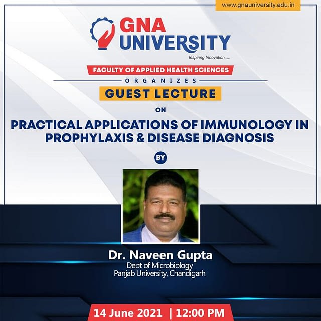 Practical Applications of Immunology in Prophylaxis and disease diagnosis