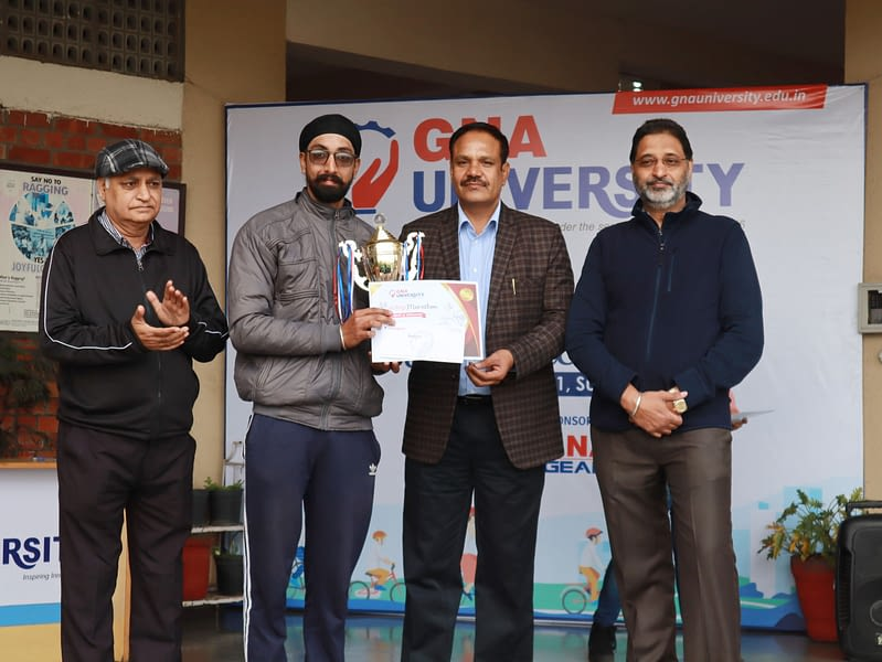 Winner cycling marathon GNA University 2