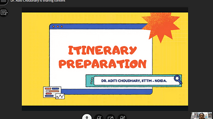 Itinerary Preparation –An Important Industrial Skill