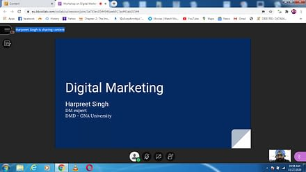 GNA University Held Virtual Guest Lecture on Digital Marketing
