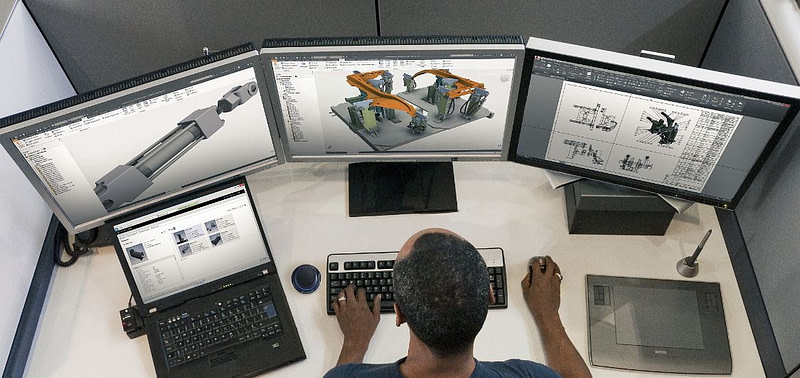 engineer working on CAD advantages