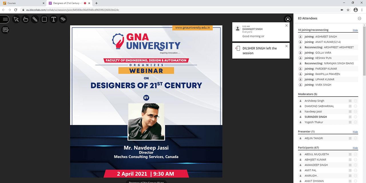 Webinar on Designers of 21st Century