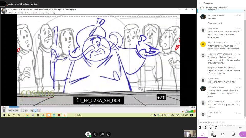 Workshop on Storyboarding and Cartooning
