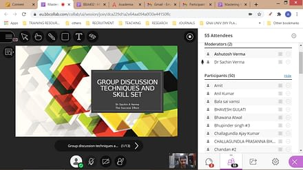 GUEST LECTURE ON MASTERING THE ART OF GROUP DISCUSSION