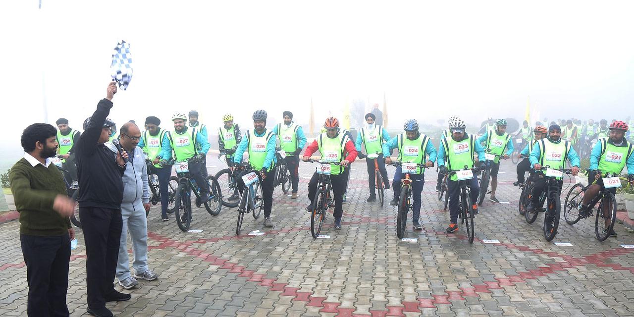 Cycling Marathon organized by GNA University