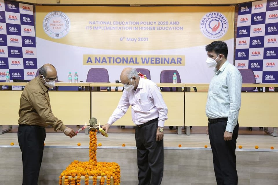AICP in Association with GNA University organized a Webinar on NEP2020 & its Implementation in Higher Education