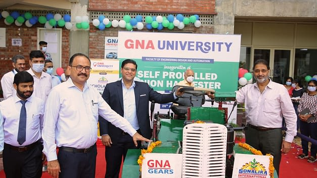 GNA University inaugurates the Self-Propeller Onion Harvester