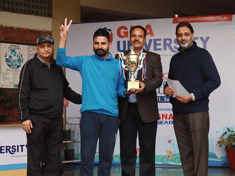 Winner cycling marathon GNA University 1