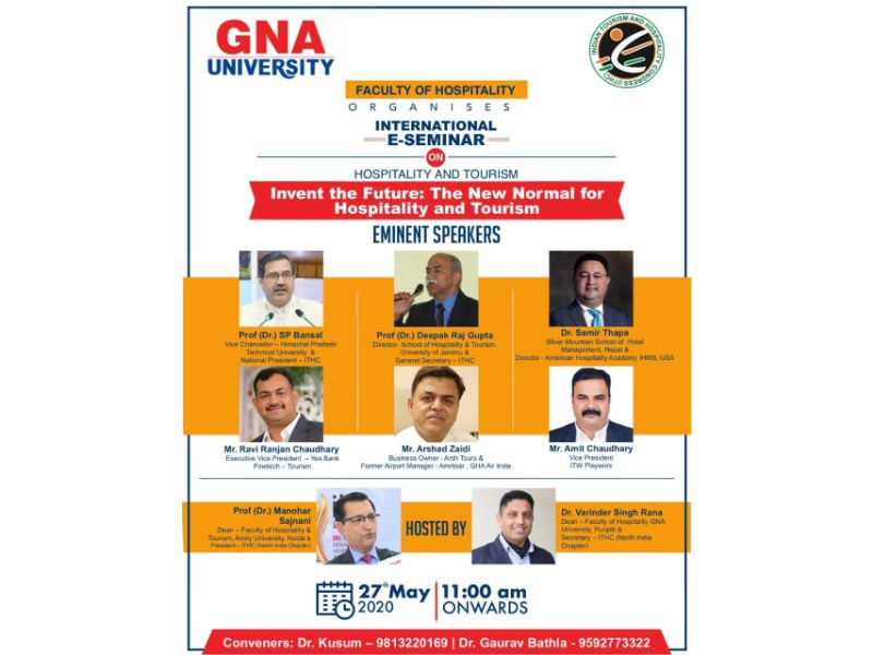 """International E-Seminar on """"Invent the Future: The New Normal for Hospitality & Tourism"""""""