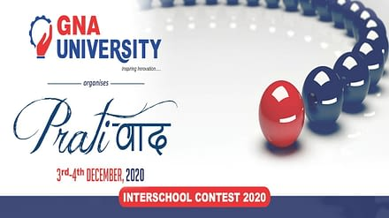 7th PRATIVAAD – An Annual Inter School Virtual Contest at GNA University
