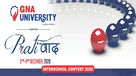 7th PRATIVAAD – An Annual Inter School Virtual Contest at GNA University