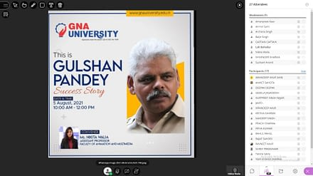 """Guest Lecture on"""" This is Gulshan Pandey a Success Story"""""""