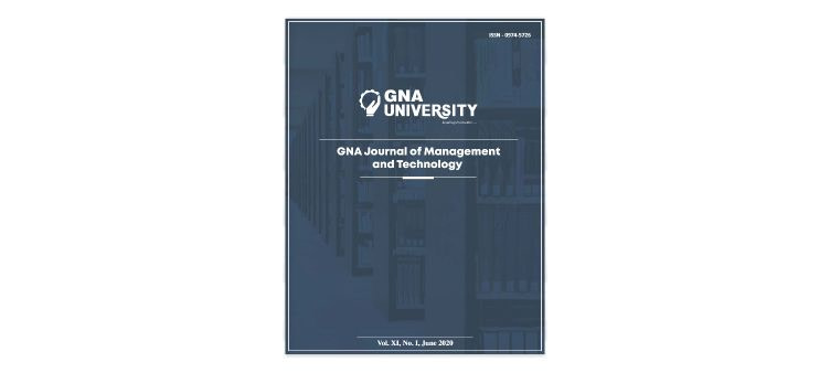 GNA Journal of Management & Technology 2020