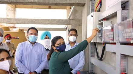 Ms. Deepti Uppal, IAS Inaugurated Solar Power Plant