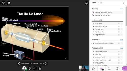 Webinar on Advancement And Applications In Laser Physics