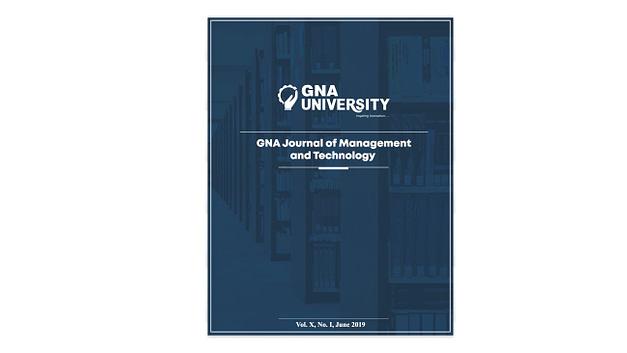 GNA Journal of Management & Technology 2019