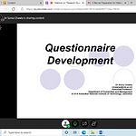 Webinar on Research Questionnaire Development