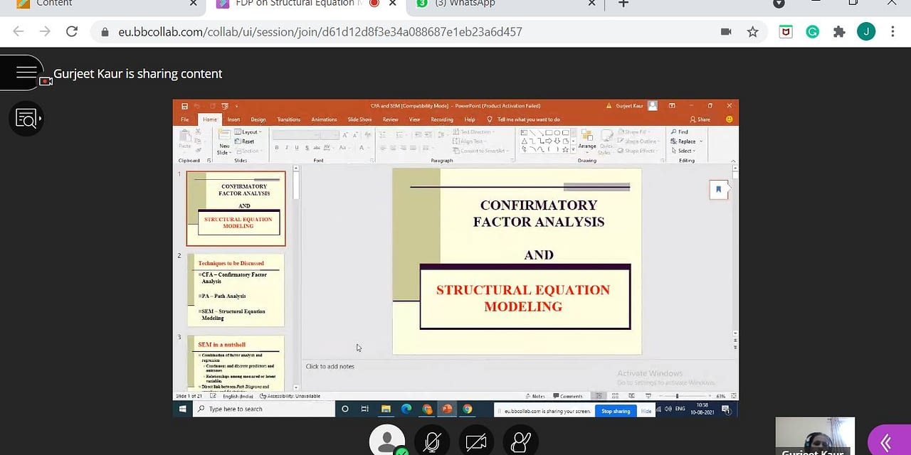 One Week Faculty Development Program on Structural Equation Modelling (SEM)